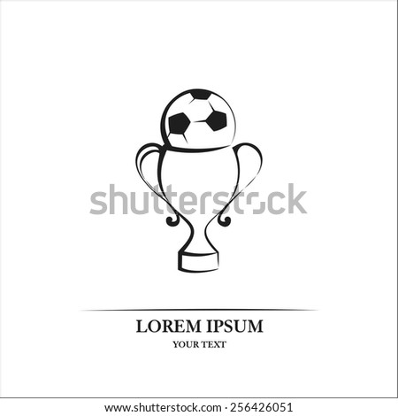 Soccer trophy - stock vector