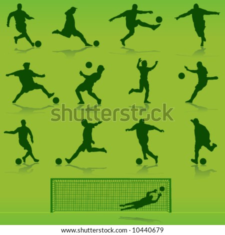 soccer vector - stock vector