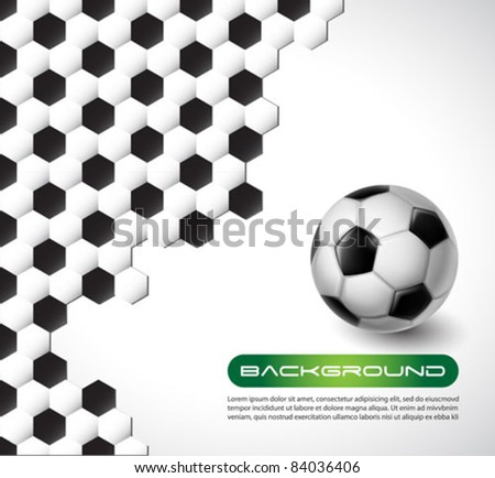 soccer vector background - stock vector