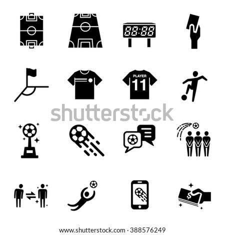 Soccer vector icon set  - stock vector
