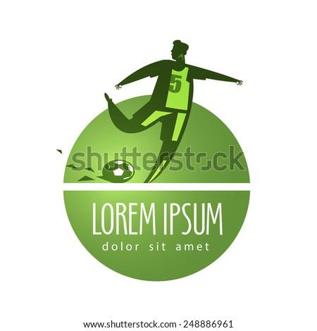 soccer vector logo design template. soccer player or sports icon. - stock vector