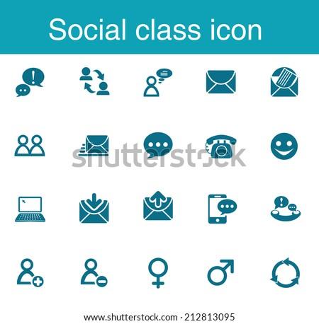 Social class icon - stock vector