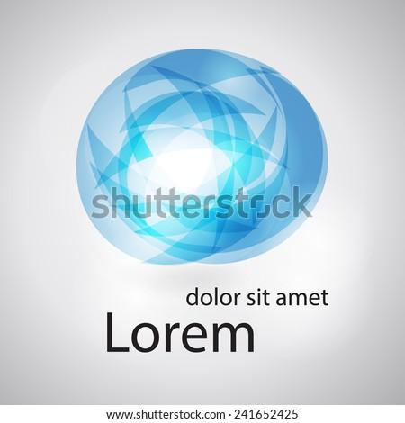 Social concept vector logo design template. Abstract globe icon. Science technology abstract icon - vector logo. Teamwork symbol. Social Network. Community icon. - stock vector