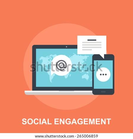 Social Engagement - stock vector