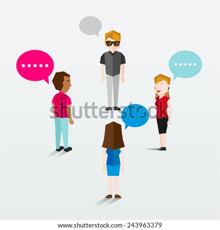 Social Group of People Icon Vector Design - stock vector