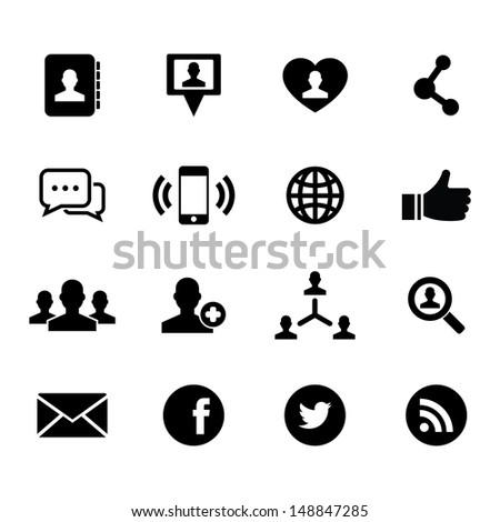 Social Icon - stock vector