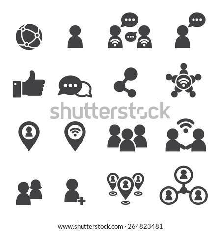 social icon - stock vector
