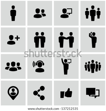 Social icons - stock vector