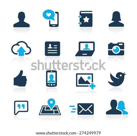 Social Icons // Azure Series - stock vector