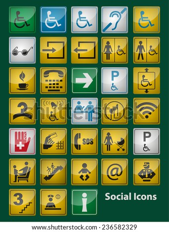 Social Icons glasses