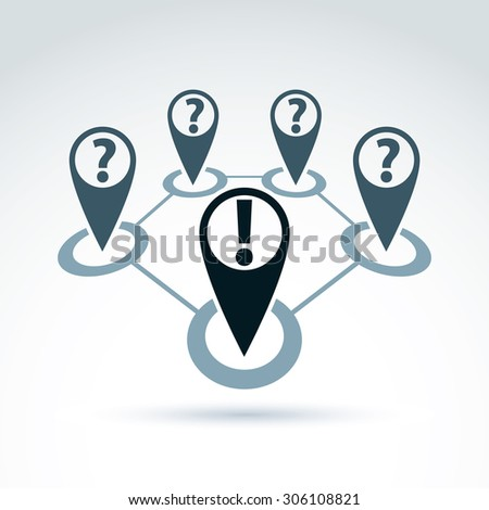 Social information collecting and exchange theme icon, social media, vector conceptual unusual symbol for your design. - stock vector