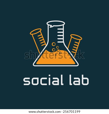 social lab concept vector design template - stock vector