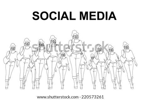 Social media - stock vector