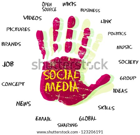 Social media and network - stock vector