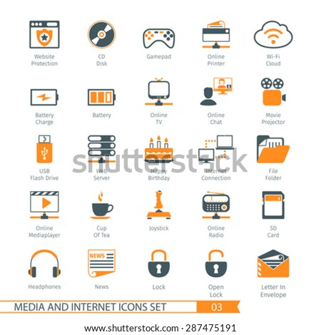 Social Media And Network Icons Set 03 - stock vector