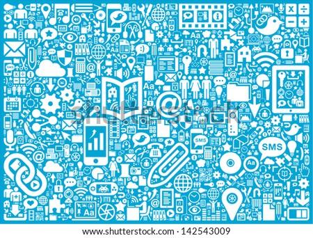 Social Media background - stock vector