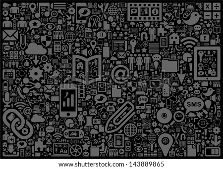 Social Media Background - stock vector