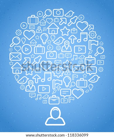Social media background. Vector illustration for your design. - stock vector