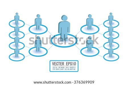 Social Media Circles, Network Illustration, Vector, Icon - stock vector