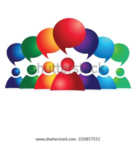 social media communication. Group chat. - stock vector