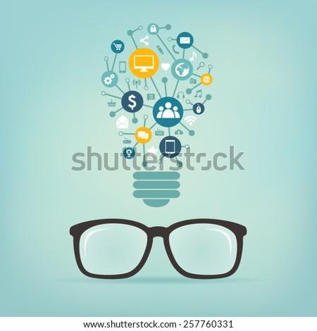 social media concept idea - stock vector