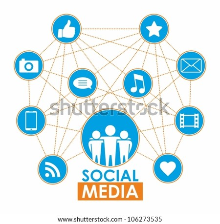 Social media concept - vector illustration - stock vector