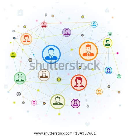 Social media concept,vector illustration. - stock vector