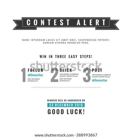 facebook photo contest rules template - social media contest vector template stock vector