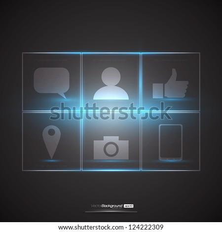 Social Media Design Elements | EPS10 Editable Vector Illustration - stock vector