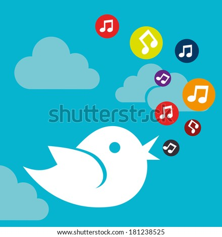 social media design over blue background vector illustration