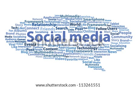 Social media design vector speech bubble concept - stock vector