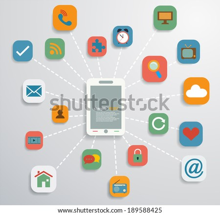 Social media elements - stock vector