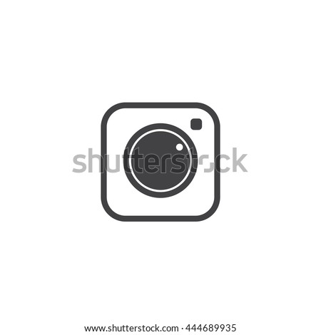 Social Media Icon, Collection of universal photo camera instagram icons, vector flat illustration