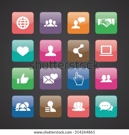 social media icons universal set for web and mobile