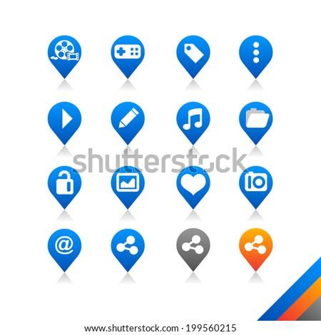 Social media icons vector - Simplicity Series - Three color version icons vector - stock vector