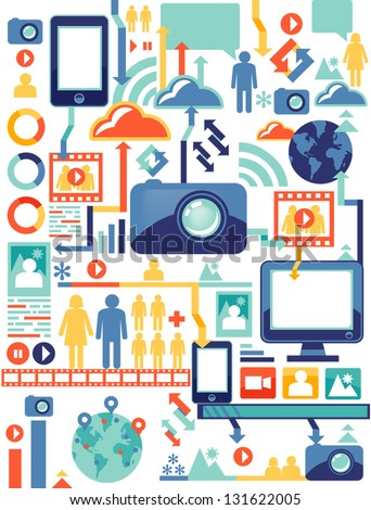 social media/infographic - stock vector