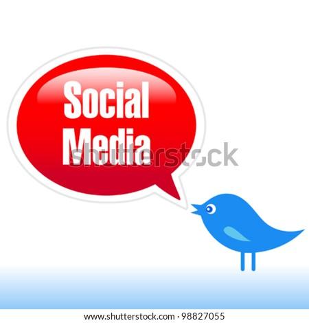 Social Media - Marketing - stock vector