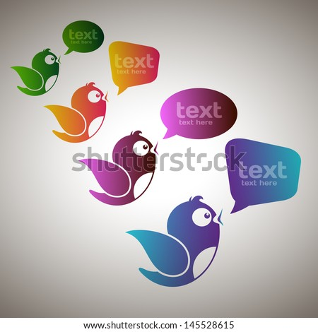Social Media Messengers - stock vector