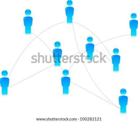 Social Media - Network - stock vector