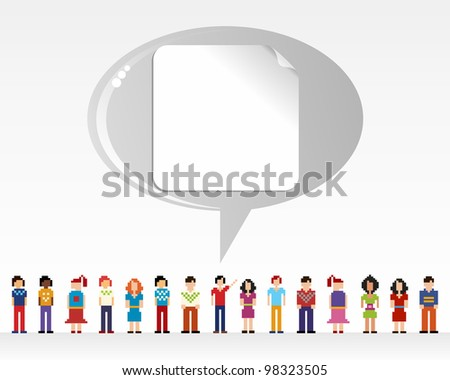 Social media network connection concept with empty label over light background. Vector file layered for easy manipulation and customizations. - stock vector