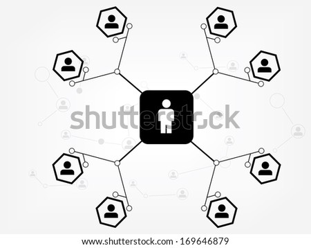 Social Media Network Illustration Vector and icon - stock vector