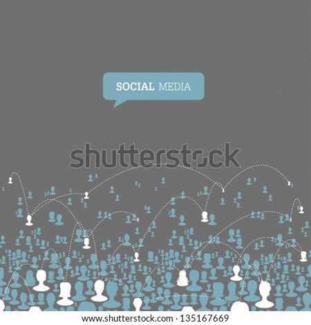 Social Media Network. Vector, EPS10 - stock vector