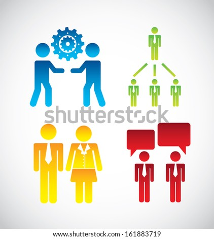 social  media over gray  background vector illustration  - stock vector