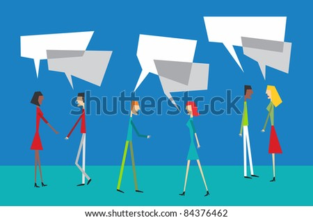 Social media people interacting Vector available. - stock vector
