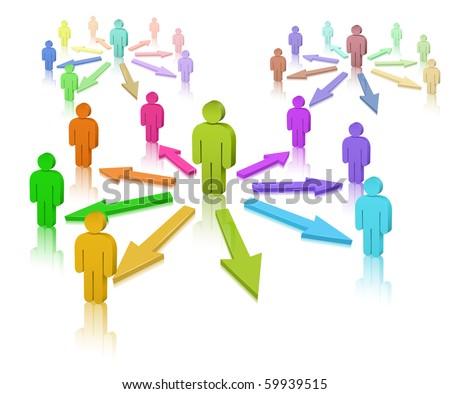 Social Media. Social Network - stock vector