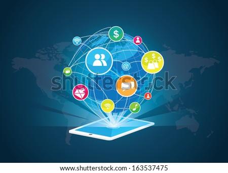 Social media vector - stock vector