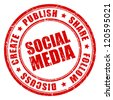 Social media vector stamp - stock vector