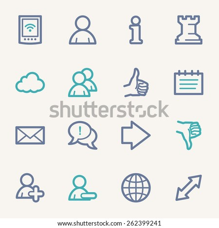 Social media web icons - stock vector