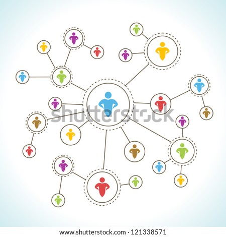 Social Network. - stock vector