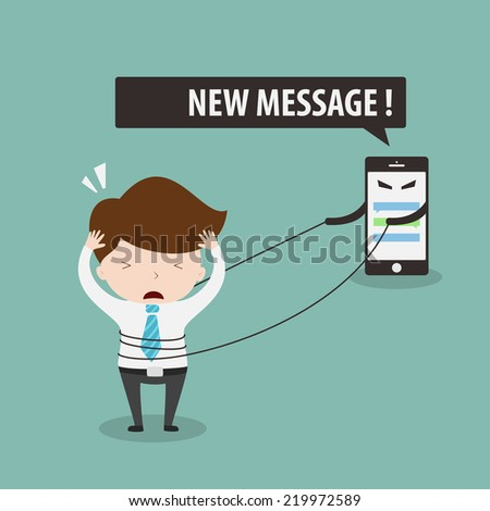 Social network addiction,Vector EPS 10. - stock vector